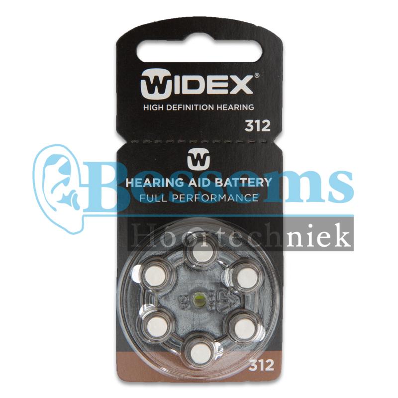 Bessems Widex batterij nr. 312 (bruin)